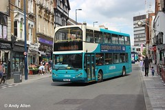 Arriva Southern Counties 6257 PN52XBF (Andy4014) Tags: pn52xbf arriva lowlander daf db250 maidstone leicester bus