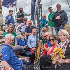 Celebrating on Chamois 1 (Matchman Devon) Tags: classic channel regatta 2017 hospitality chamois paimpol