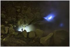 the magician of Ijen (i.v.a.n.k.a) Tags: ijen volcano indonesia java eastjava sulphur mining flames bluefire crater night longexposure metaphor fantasy ivanadorn ivanahesova sonyalpha