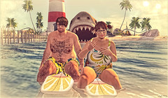 *Nothing beats a nice and quiet day on the water*❤ (Ⓐⓝⓖⓔⓛ (Angeleyes Roxley)) Tags: fun water beach shark surf sl secondlife avatar