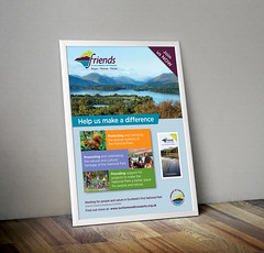 Friends of Loch Lomond poster by G3 Creative (Glasgow_graphic_designers) Tags: friends loch lomond the trossachs national park glasgow graphic design g3 creative poster