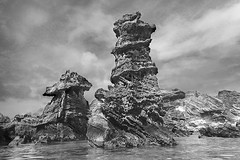 Nature's totems (jonathan charles photo) Tags: rock sculpture natural tobacco bay bermuda bw monochrome art landscape photo jonathan charles topf50