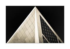 Pyramide (jldum) Tags: architecture art artist artiste artistic architect arche architecte building abstract abstrait bw noiretblanc noretblanc sony sonyilca99m2