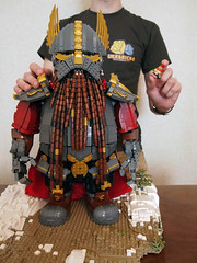 Me and my Warhammer Dwarfs (Dwalin Forkbeard) Tags: moc lego dwarf warhammer fantasy total war thane warlord hammer maxifigure cape runes gold gromril medieval beer concept