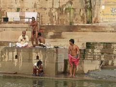varanasi 2008 (gerben more) Tags: varanasi benares india people shirtless ritualbathing ganges ganga men