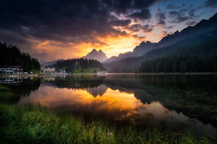 Lago di Misurina  - The other Side (Croosterpix) Tags: lake reflection sunrise water clouds sky nature landscape mountains alps dolomiti dolomites colors travel sony a7r nikkor1835 nisi filter polarizer