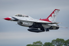 Thunderbird F-16D Departure (Mark_Aviation) Tags: thunderbird f16d departure usaf thunderbirds demonstration team f16 lockheed martin d twin stick seat riat 2017 riat17 royal international air tattoo aircraft airplane airport aviation airlines aerospace aeroplane arriving airshow arrival af airways takeoff departing short jet