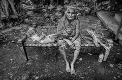 Me and my pet (tuhindas1989) Tags: travelphotography travel nikon blackandwhite oldwoman wrinkles cat pet relaxing leisure people woman