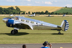 N223CM - 1952 build Beech D18S Expeditor, post display at Duxford during Flying Legends 2017 (egcc) Tags: 2344 a873 be18 beech beech18 beech3nm beechcraft cfsjh ca223 duxford egsu expeditor flyinglegends flyinglegends2017 iwm imperialwarmuseum lightroom mathys n223cm n522hm airshow warbird