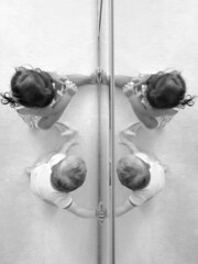 more love than you know (Michael Kenan) Tags: brother sister black white mirror reflection love family familia baby babies kids children