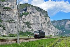 Class 189 Locomotive_Mezzocorona, Italy_050517_01 (DS 90008) Tags: class189 189910 locomotive wagons electricloco electrictraction mezzocorona italy railway railtransport train track engineering mountains vineyards wine europeanrailway europe