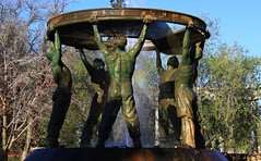 5 Bronze Miners which surrounds the Digger's Fountain - Kimberley (2) (Richard Collier - Wildlife and Travel Photography) Tags: monuments memorial southafrica kimberley diggersfountain ernestoppenheimermemorialgardens gardens