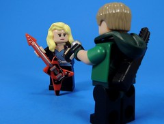 Sing with me Oliver (MrKjito) Tags: lego minifig super hero comic comics dc green arrow rebirth black canary singer rock star oliver queen dinah lance