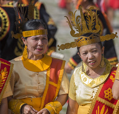 Ladies of Bawomataluo in their traditional costumes (Hannes Rada) Tags: indonesia nias island bawomataluo ladies costumes