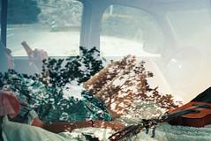 Sleep in car (Vincent Beck Mathieu) Tags: vincent beck mathieu love analog film 35mm adventure explore sleep car road trip girl modele young teen wild life style youth bohemian sunset reflection tree beer drink photographer nikon kodak portra ngc