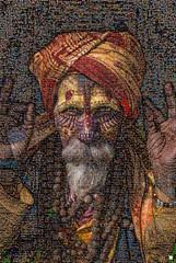 Maquillaje étnico Mosaico (by zurera) Tags: digital hd art collage retratos portraid zurera people fotomontaje image autoretratos mosaic