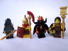 More Mages/Question (slight.of.brick) Tags: lego fantasy mage figbarf minifig magic summoner elemental priest