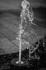 Street-Style Photography (Ollie Smith Photography) Tags: liverpool merseyside nikon d7200 50mm 18d lightroom monochrome blackwhite water fountain droplets