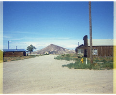 Goldfield, Nevada - Business District - 1968 (tonopah06) Tags: goldfield nevada esmeralda county nv 1968 miningcamp goldcamp ghosttown columbia avenue ave mountain bank building cook js street main st