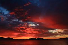 Bloody sunrise over Yenisei River, Khakassia, Russia (Fedor Odegov) Tags: sunrise yenisei river tepsey colors summer siberia khakassia russia рассвет хакасия енисей сибирь россия