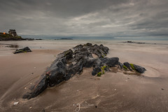 Moody morning at the Malahide beach (Pastel Frames Photography) Tags: malahide beach ireland dublin seaside rock sky moody clouds canon5dmark3 canon1635mm wideangle travelphotography landscapephotography beauty sightseeing
