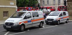 Metropolitan Police - BU12 A0L & BU12 AZX (999 Response) Tags: mercedes benz vito metropolitan police bu12a0l bu12azx london 999 england 2017