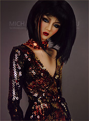 Molly (Michaela Unbehau Photography) Tags: vjhon doll molly hayward oriental reverie outfit antonio realli 16 resin ball jointed fashion fbjd bjfd portrait dark asian sequin michaela unbehau fashiondoll toy toys photography mannequin model mode puppe fotografie art studio glam dolls