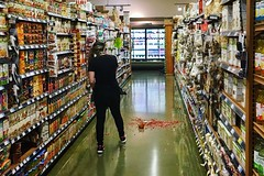 Cleanup on aisle 3 (Frankenstein) Tags: notme oops mess supermarket wholefoods