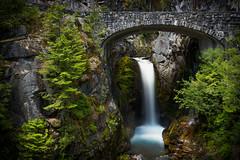 Just water under the bridge (P Matthews) Tags: longexposure park firs waterfallsstonebridge moss bridge frame