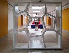 Hotel in Abeokuta, Nigeria (Keith Tomlins) Tags: art nigeria abeokuta hotel africa seat red blue 1960s modernist architecture restored italian