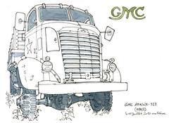 un GMC de 1942 (gerard michel) Tags: truck camion sketch croquis