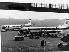 Berlin Tempelhof - Historische Wandbilder auf dem Tempelhofer Feld - Der Flughafen Tempelhof um 1960 (Detlef Wieczorek) Tags: bea historisch berlin westberlin flughafentempelhof britisheuropeanairways