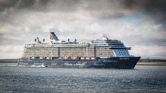Mein Schiff 4 (MBDGE >1.6 Million Views) Tags: orkney ocean sea vessel scotland ship sky sun shore scenery seascape passenger harbour hatston water wave waves kirkwall lightroom pilotlaunch maiden call meinschiff4 tui cruises canon canon70d clouds contrast cloud blue clolour vacation holiday uk balfourcastle