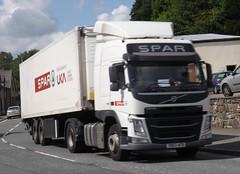Spar DB63 AFB at Llanfair Caereinion (joshhowells27) Tags: lorry truck volvo fm spar refrigerated