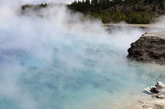 Blue Waters (rschnaible) Tags: yellowstone national park us usa wyoming outdoor landscape geyser hot spring water color colorful blue