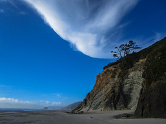 (_mo.foto_) Tags: oregoncoast sand beach sky cloud tree pacificnorthwest pnw blue