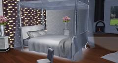 Wellington Canopy (Akaesha Revnik) Tags: second life secondlife akaesha react animated furniture animations couple bed bath sofa set