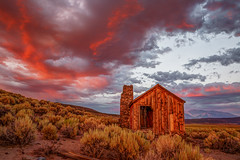 Cabin at Sunset (Jeffrey Sullivan) Tags: abandoned cabin sunset clouds ruraldecay canon eos 6d photo nature landscape photography mono county california usa easternsierra white mountains copyright 2017 jeff sullivan july