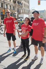 Lloyd and Chris Voth, handing off to Miranda Issacs (2017 Canada Games // Jeux du Canada 2017) Tags: keithlevitphotography tor lloyd chrisvoth canadasummergames mirandaissacs winnpegtorchrelay