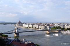 Die Kettenbrücke (Széchenyi lánchíd) (Széchenyi-Kettenbrücke) (HITSCHKO) Tags: ungarn magyarország magyarköztársaság republikungarn budapest hauptstadt buda pest donau duna kettenbrücke széchenyilánchíd széchenyikettenbrücke
