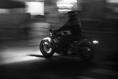 Night Rider (JuanEsOc) Tags: byn bn blackandwhite blancoynegro harley davidson