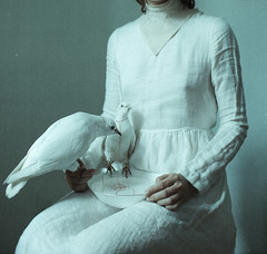 Nursing (laura makabresku) Tags: laura makabresku birds pale portrait hands water white