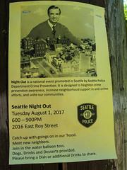 Won't You Be My Neighbor? (prima seadiva) Tags: flier neighbor police capitolhill north