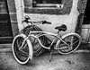 """Honolulu"" bike (roducko) Tags: m43 mono black white panasonic g6 strret"