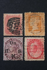 Four or one queen? (Sven Bonorden) Tags: stamps briefmarken queens königinnen victoria queenvictoria macromondays queen