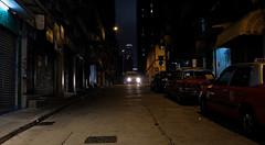 """night lights"" (hugo poon - one day in my life) Tags: xt2 23mmf2 hongkong saiyingpun secondstreet citynight dark ifc westernstreet vanishing vacant myfamiliarplaces police taxi"