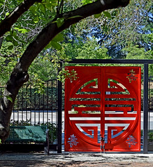Chinese Temple gate - Oroville CA (mariposa lily) Tags: chinesetemple temple gate redgate orovilleca calif california historicplaces red buttecountyca buttecountycalif buttecountycalifornia historic nikon nikond3300 d3300 gates orovillecalif orovillecalifornia norcal temples placesofworship placeofworship