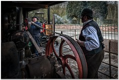 Belt driven engine (Hugh Stanton) Tags: steam engine wheel appicoftheweek