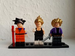 Goku, Vegeta and Trunks (ZenThorga) Tags: dragon ball z dragonball lego brick vegeta goku son trunks warriors ilikegold anybodyreadingthese legography