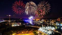 Fireworks Belgium (2) (YᗩSᗰIᘉᗴ HᗴᘉS +6 500 000 thx❀) Tags: firework fireworks feu feudartifice fête namur belgium belgique night hensyasmine bridge